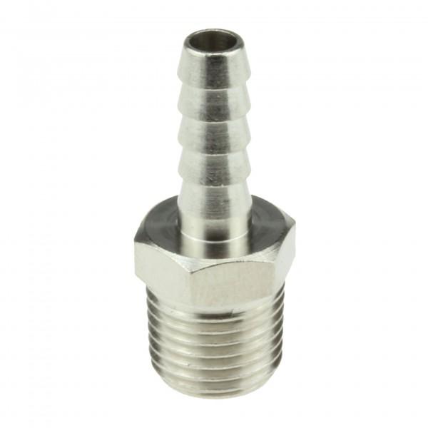 Gewindetülle Messing vernickelt R1/4 für 6mm Schlauch