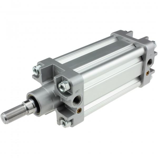 Univer Pneumatikzylinder Serie K ISO 15552 mit 80mm Kolben und 100mm Hub