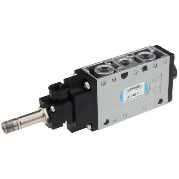 Univer AC-8740 5/2-Wege Magnetventil MIXED G1/4 mit Steuerhilfsluft