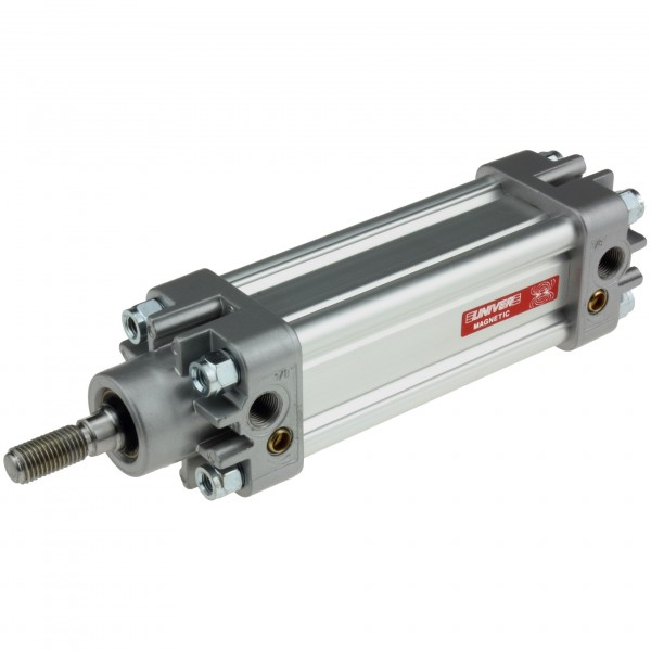 Univer Pneumatikzylinder Serie K ISO 15552 mit 32mm Kolben und 990mm Hub und Magnet