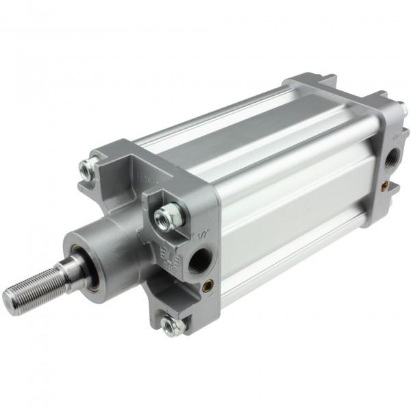 Univer Pneumatikzylinder Serie K ISO 15552 mit 100mm Kolben und 370mm Hub