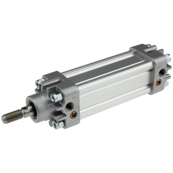 Univer Pneumatikzylinder Serie K ISO 15552 mit 32mm Kolben und 490mm Hub