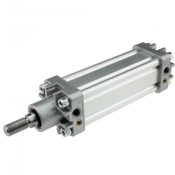 Univer Pneumatikzylinder Serie K ISO 15552 mit 50mm Kolben und 80mm Hub