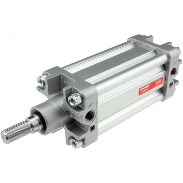 Univer Pneumatikzylinder Serie K ISO 15552 mit 80mm Kolben und 145mm Hub und Magnet
