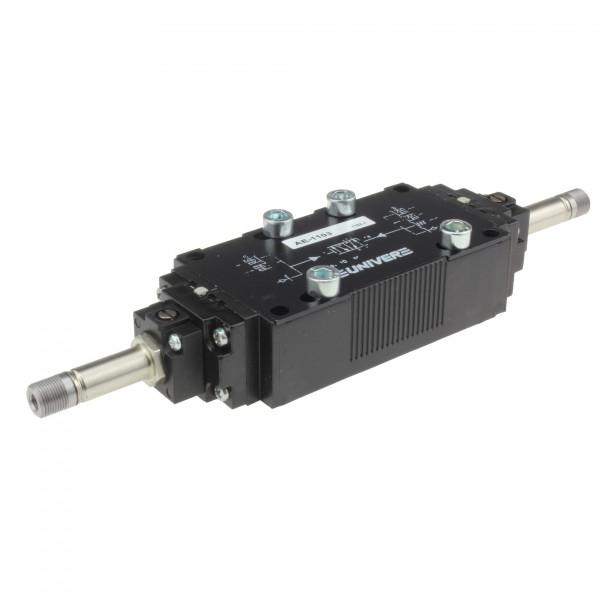 Univer AE-1103 5/2-Wege Magnetventil für Gurndplattenmontage
