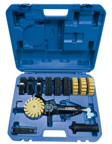 Druckluft-Bürstenentroster von Prevost im Koffer