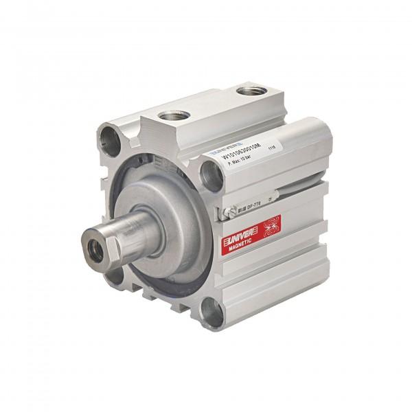 Univer Kurzhubzylinder Serie W100 mit 80mm Kolben mit 25mm Hub und Magnet