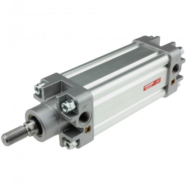 Univer Pneumatikzylinder Serie K ISO 15552 mit 63mm Kolben und 145mm Hub und Magnet