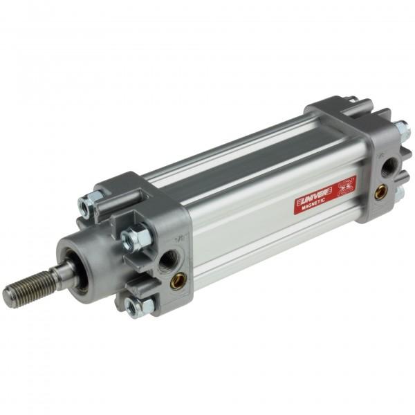 Univer Pneumatikzylinder Serie K ISO 15552 mit 32mm Kolben und 15mm Hub und Magnet