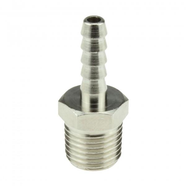 Gewindetülle Messing vernickelt R1/4 für 5mm Schlauch