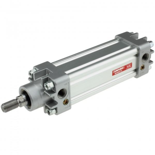 Univer Pneumatikzylinder Serie K ISO 15552 mit 40mm Kolben und 130mm Hub und Magnet