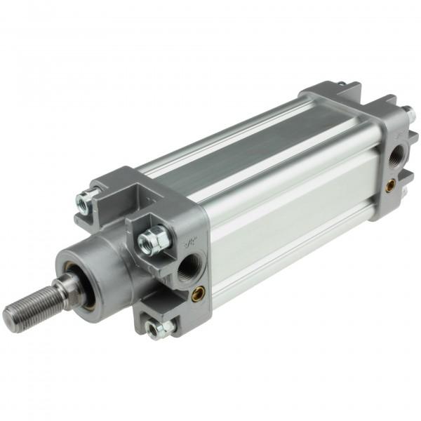 Univer Pneumatikzylinder Serie K ISO 15552 mit 63mm Kolben und 155mm Hub