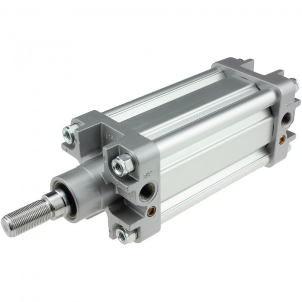 Univer Pneumatikzylinder Serie K ISO 15552 mit 80mm Kolben und 155mm Hub