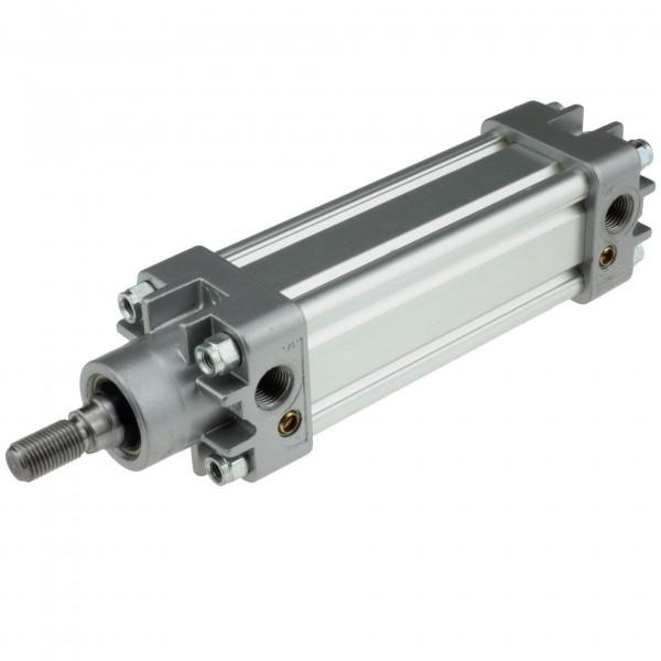 Univer Pneumatikzylinder Serie K ISO 15552 mit 40mm Kolben und 125mm Hub