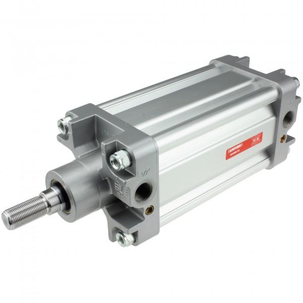 Univer Pneumatikzylinder Serie K ISO 15552 mit 100mm Kolben und 155mm Hub und Magnet