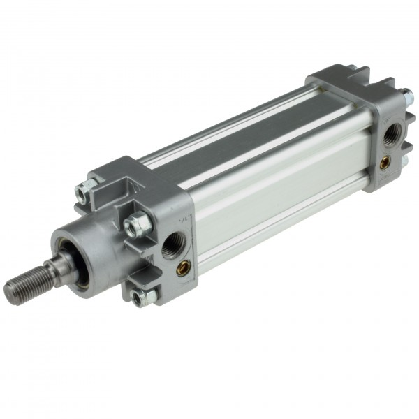 Univer Pneumatikzylinder Serie K ISO 15552 mit 40mm Kolben und 670mm Hub