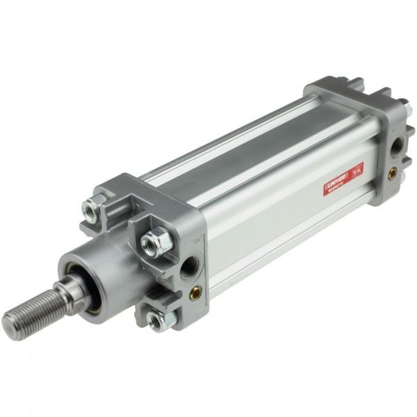 Univer Pneumatikzylinder Serie K ISO 15552 mit 50mm Kolben und 225mm Hub und Magnet